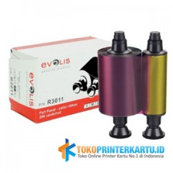 P/N : R3011 Ribbon Color YMCKO Evolis Pebble 4
